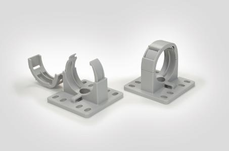 CTCC IWS corrugated tubing holders for the nominal sizes 17, 29, 37 and 50 mm