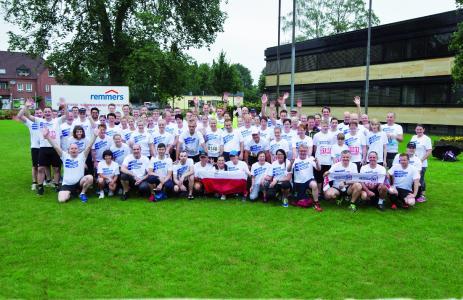 Auch in diesem wieder stark vertreten ist das Team Remmers mit knapp 150 Teilnehmern (Bildquelle: Remmers, Löningen/Paul Mastall)