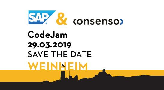 SAP CodeJam 29.03.2019 in Weinheim