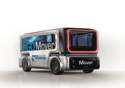 Der e.GO Mover. Der Mover ist ein universell ausbau- und einsetzbarer Kleinbus, der sowohl für den Personen-nahverkehr als auch für private und gewerbliche Transportaufgaben ausgerüstet werden kann.