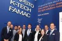 Pöppelmann-Messeteam in Düsseldorf: Auf der Weltleitmesse der Kunststoffbranche stießen die Lohner Konzepte und Produktlösungen, mit denen Materialkreisläufe geschlossen werden können, auf großes Interesse / Foto: Ruth Honkomp