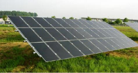 Horizontaltracker mit First Solar-Modulen (ca. 2,61 kwp/Tracker)