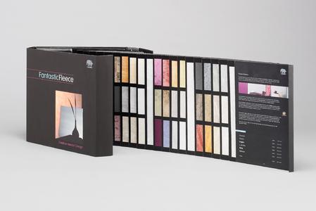 Die Elegante Kollektionsmappe Zeigt Alle Zwölf Dessins In Jeweils Zwölf  Unterschiedlichen Farbvarianten.