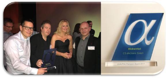 Foto CiS: v.l. Andreas Schmidt, Wolfgang Soukup, Barbara Schöneberger, Nico Fietz