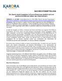 [PDF] Pressemitteilung: Eric Sprott stockt Investition in Karora Resources deutlich auf und zeichnet 26 Millionen Aktien des Unternehmens